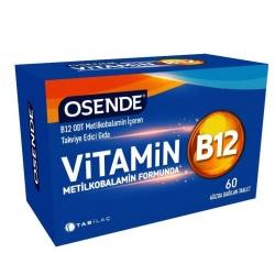 Osende Vitamin B12 Metilkobalamin içeren Takviye Edici Gıda 60 Tablet